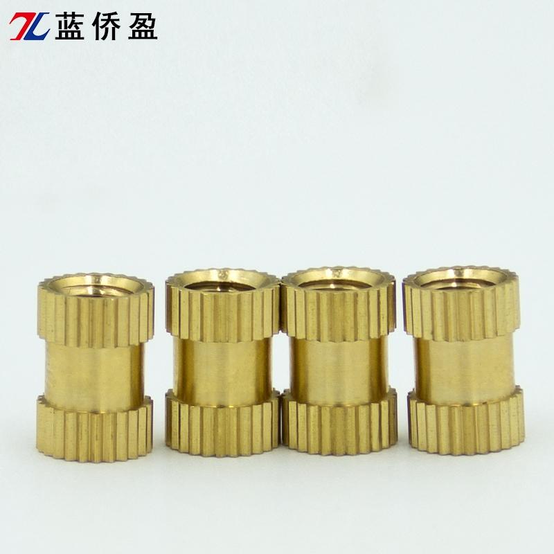 I-shaped straight flower copper nut